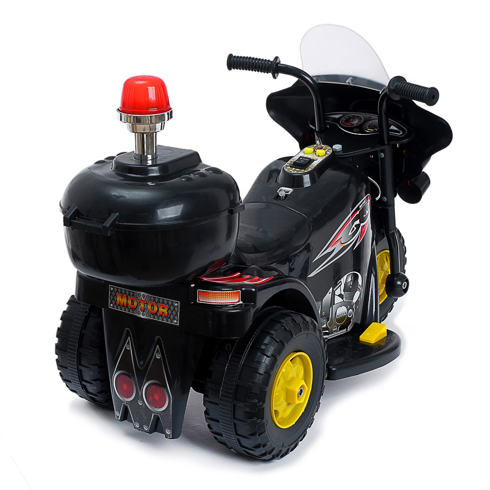 "Электромобиль ""Мотоцикл шерифа"", 82х37х52см, пластик, черный - 2"