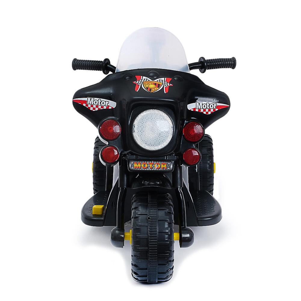 "Электромобиль ""Мотоцикл шерифа"", 82х37х52см, пластик, черный - 3"