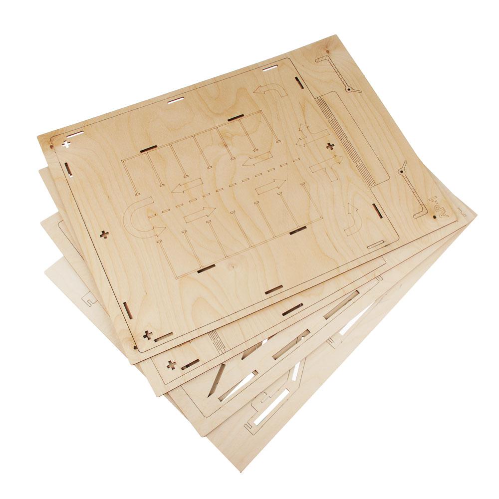 ИГРОЛЕНД Парковка для машинок деревянная, 44х50х19 см - 2