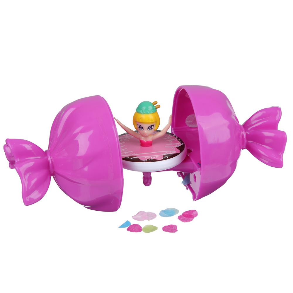 ИГРОЛЕНД Волчок девочка в шаре, ABS, 12,5х6,5х6,5см, 6 дизайнов - 3