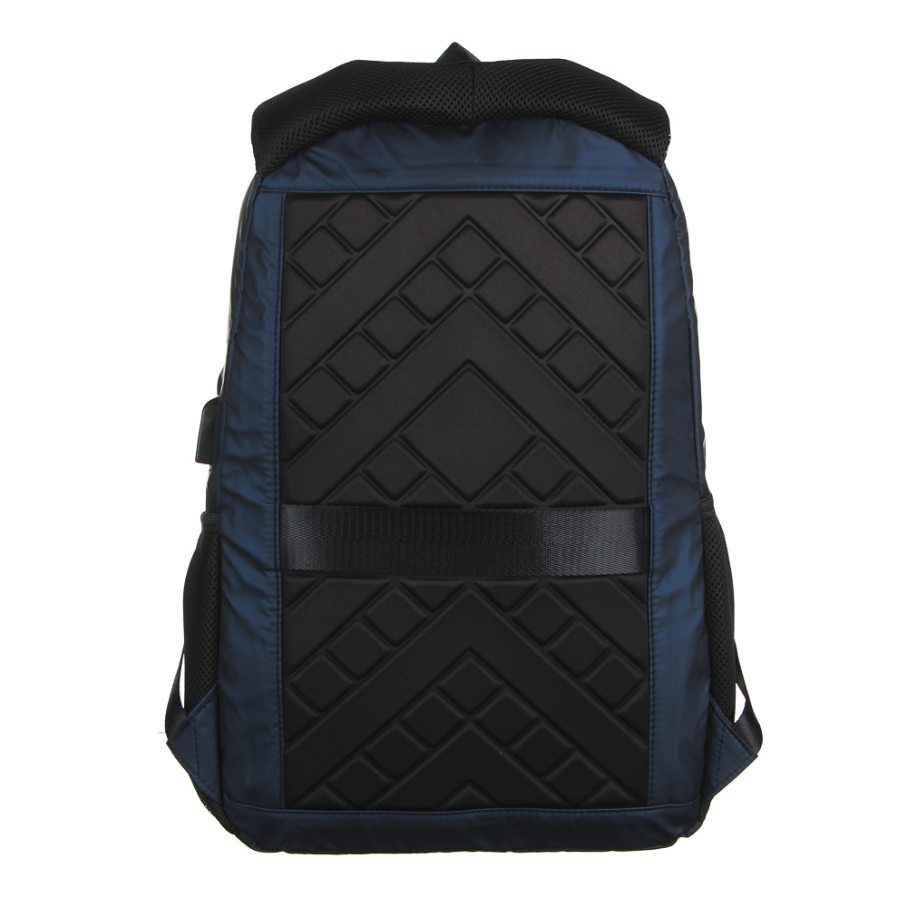 Рюкзак подростковый, 44x27x12см, 2 отделения, 3карм, водоотталк.нейлон, рельеф.спинка, USB, 2 цвета - 4