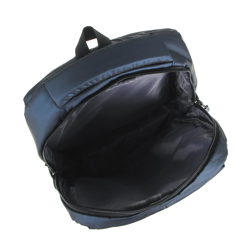 Рюкзак подростковый, 44x27x12см, 2 отделения, 3карм, водоотталк.нейлон, рельеф.спинка, USB, 2 цвета - 5