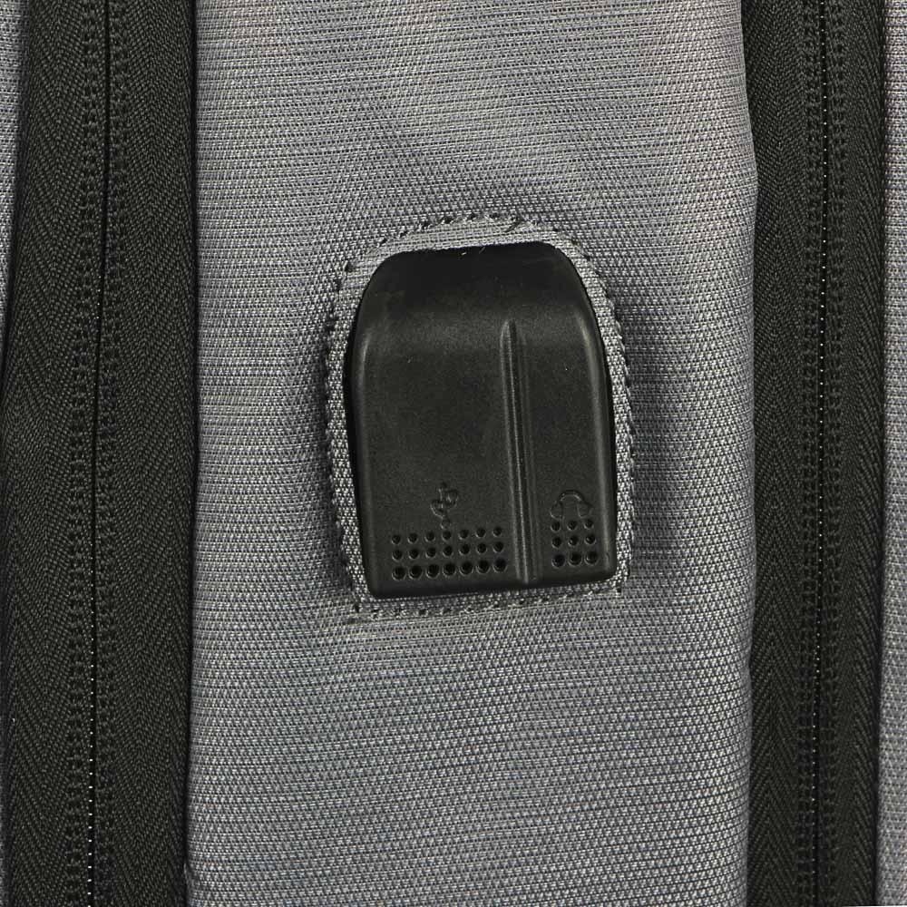 Рюкзак подростковый, 45х32x19см, 2 отд, 3 карм, ПЭ, иск.кожа,спинка с эрг.элем.,USB, 4 цвета - 6