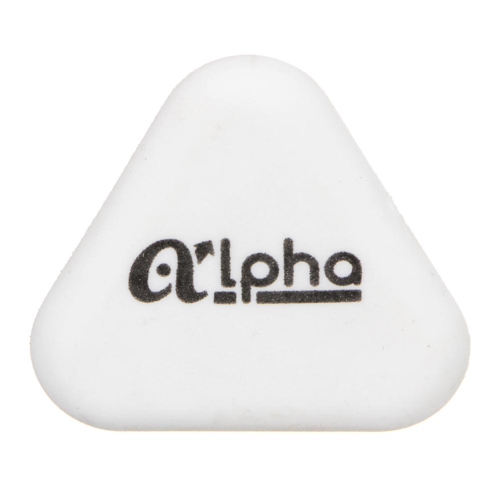 """ClipStudio Ластик треугольный """"Альфа"""", 4,5х4,5х0,9см, белый, улучшенное стирание, ТПР - 2"""
