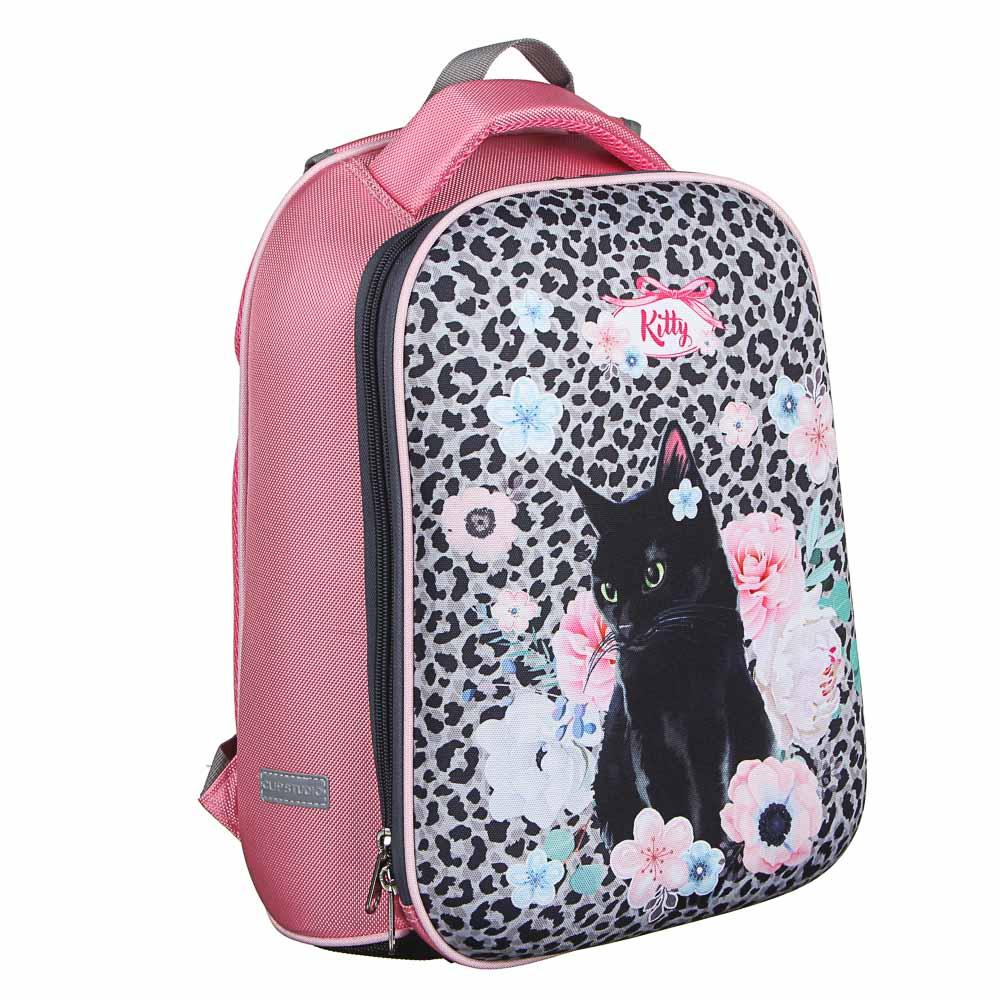 Рюкзак детский жесткий, 38x30x20см, 2 отделения, 2 кармана, эргономичная спинка, полиэстер, 4 диз. - 3