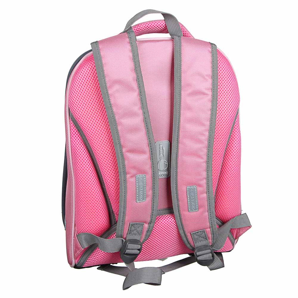 Рюкзак детский жесткий, 38x30x20см, 2 отделения, 2 кармана, эргономичная спинка, полиэстер, 4 диз. - 4