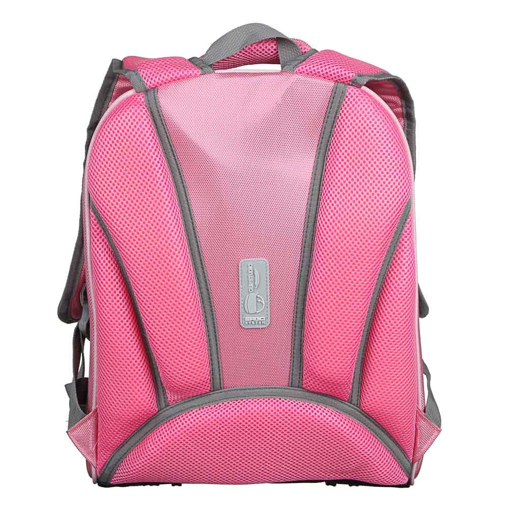 Рюкзак детский жесткий, 38x30x20см, 2 отделения, 2 кармана, эргономичная спинка, полиэстер, 4 диз. - 5