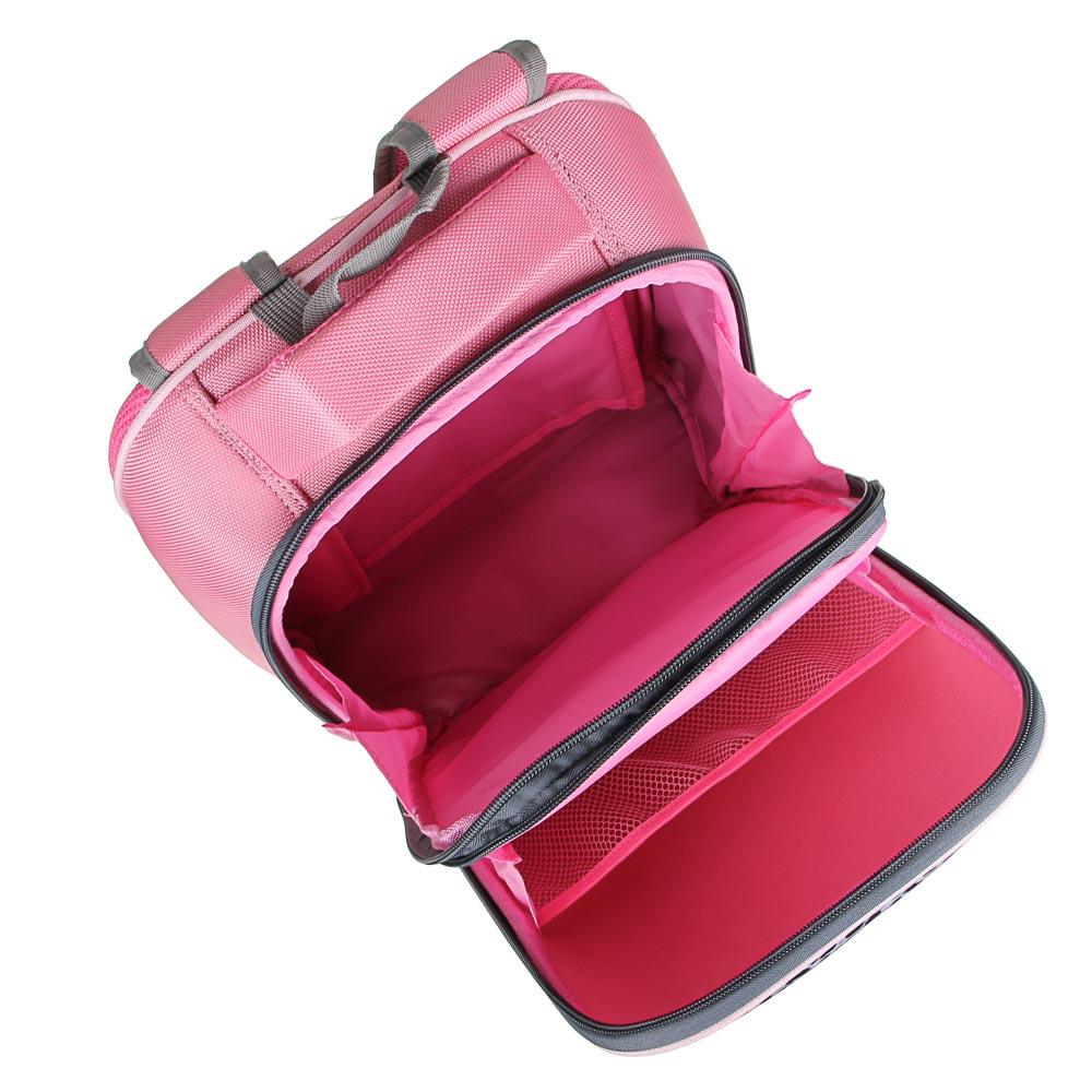 Рюкзак детский жесткий, 38x30x20см, 2 отделения, 2 кармана, эргономичная спинка, полиэстер, 4 диз. - 6