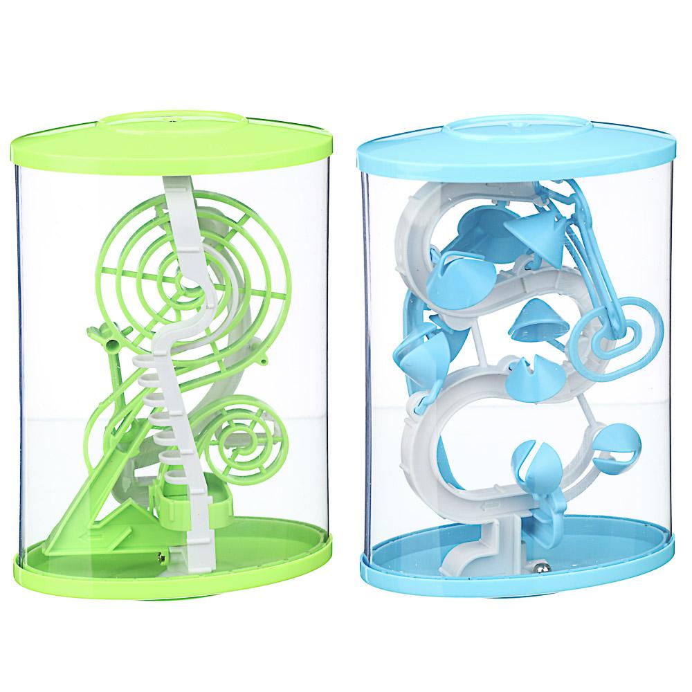 ИГРОЛЕНД Головоломка 3D лабиринт, пластик, 13х21см, 2 дизайна - 2