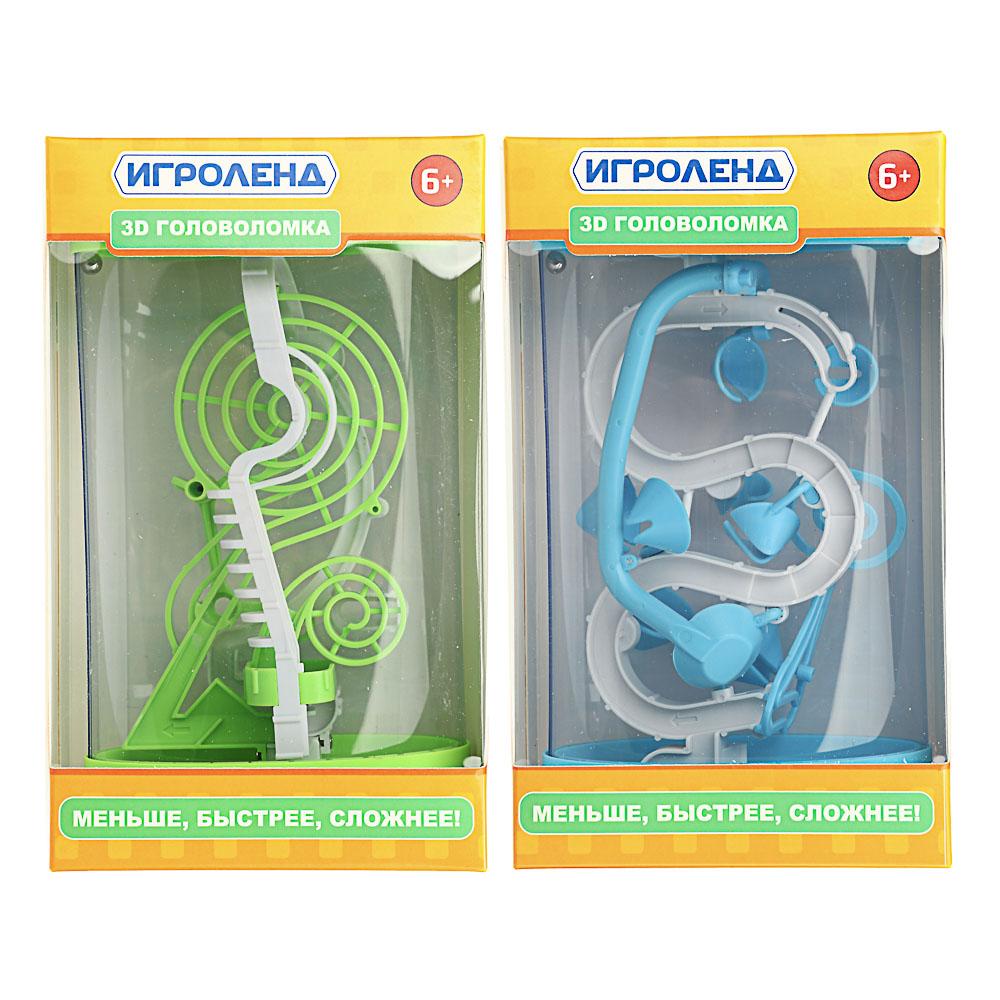 ИГРОЛЕНД Головоломка 3D лабиринт, пластик, 13х21см, 2 дизайна - 4