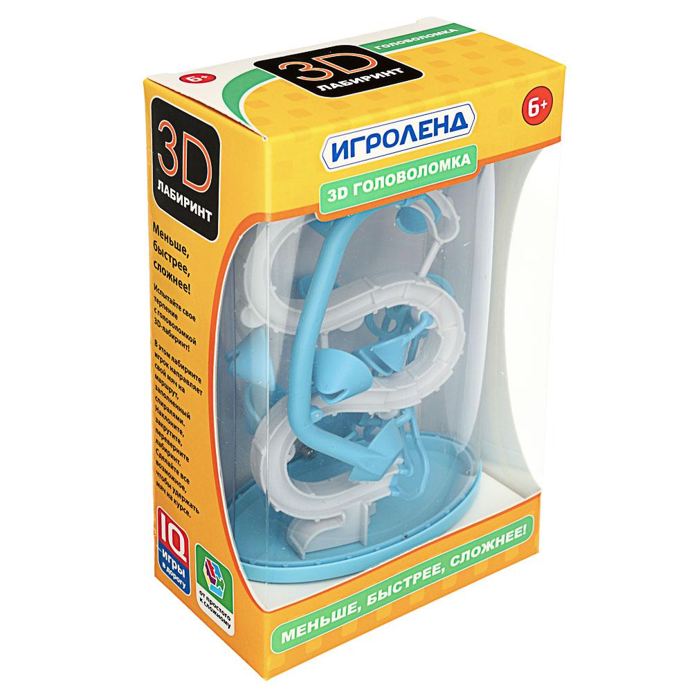 ИГРОЛЕНД Головоломка 3D лабиринт, пластик, 13х21см, 2 дизайна - 5