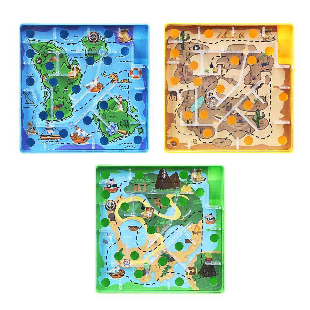 ИГРОЛЕНД Игры в дорогу мини лабиринт, пластик, 10х10х2,1см, 3 дизайна - 2