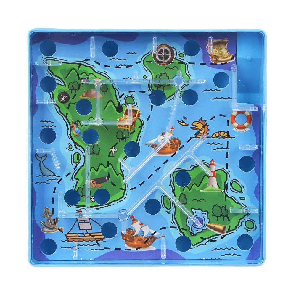 ИГРОЛЕНД Игры в дорогу мини лабиринт, пластик, 10х10х2,1см, 3 дизайна - 3