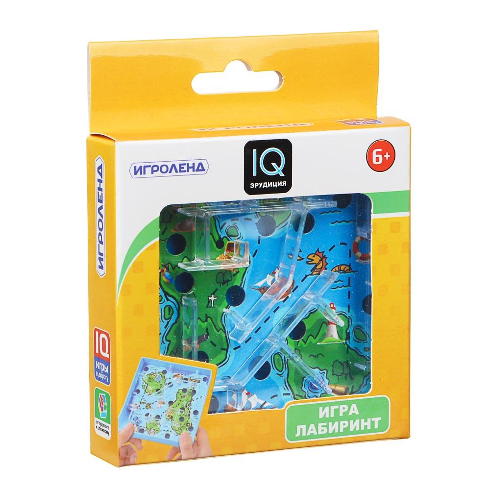 ИГРОЛЕНД Игры в дорогу мини лабиринт, пластик, 10х10х2,1см, 3 дизайна - 4