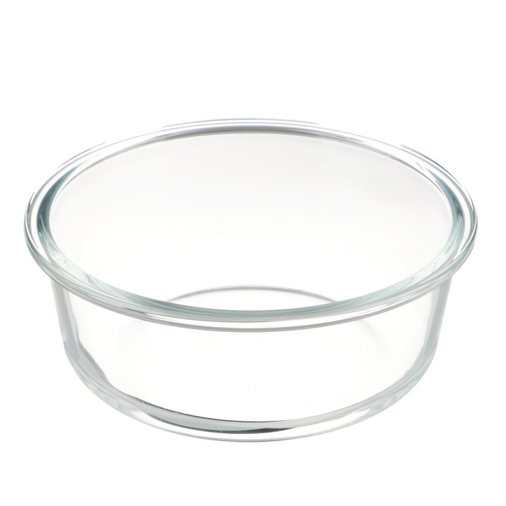 VETTA Контейнер для продуктов на защелках 950мл круглый, жаропрочное стекло - 3