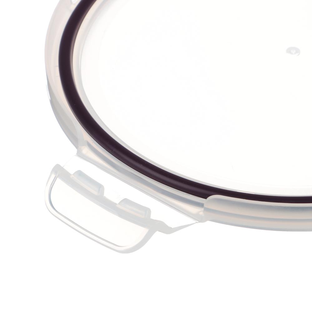 VETTA Контейнер для продуктов на защелках 950мл круглый, жаропрочное стекло - 4