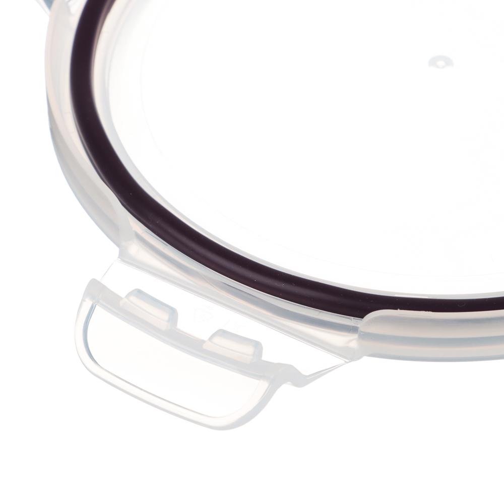 VETTA Контейнер для продуктов на защелках 600мл круглый, жаропрочное стекло - 4