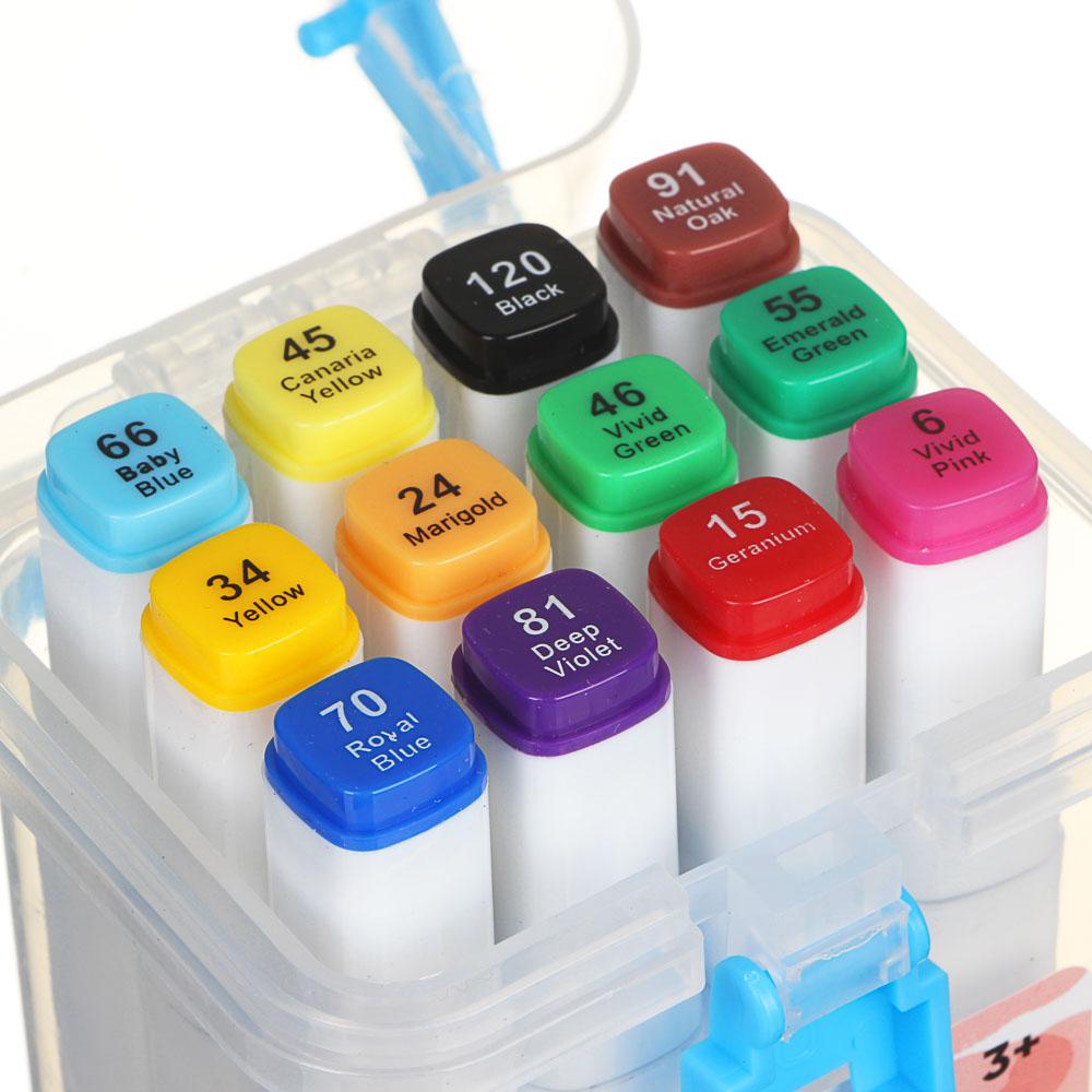 ХОББИХИТ Набор маркеров для скетчинга, пластик, 8,2х17х6,5см, 12 цветов - 5