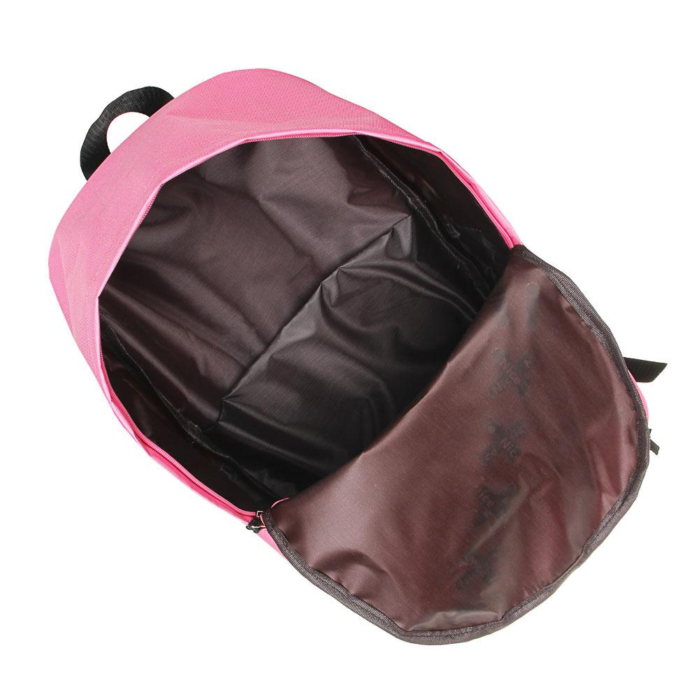 """Рюкзак подростковый 43х30x13см, 1 отд., 4 карм., плотный полиэстер, декор """"шнуровка"""", 2 цвета - 6"""