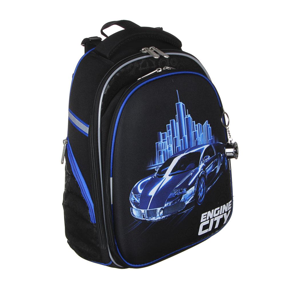 Энджин Сити Рюкзак школьный жесткий, 38x30x20см, ПЭ, 2 отд, 2 карм, эргон.спинка,лямки рег.по росту - 2