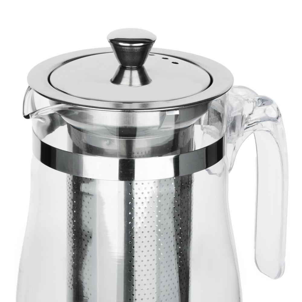 VETTA Чайник заварочный 750мл с ситечком, нерж.сталь, стекло, полистирол - 2