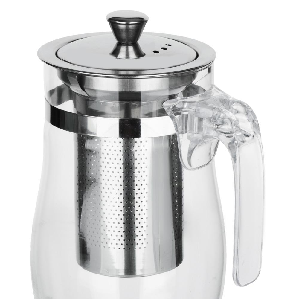 VETTA Чайник заварочный 750мл с ситечком, нерж.сталь, стекло, полистирол - 3