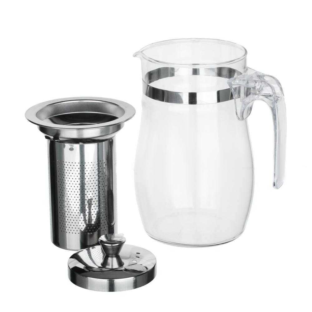 VETTA Чайник заварочный 750мл с ситечком, нерж.сталь, стекло, полистирол - 4