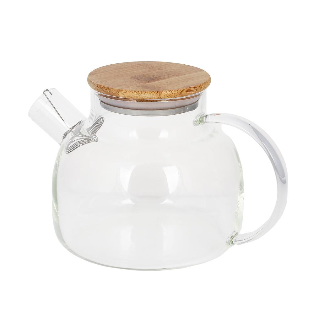VETTA Чайник заварочный 1000мл, с металлическим фильтром, стекло - 4