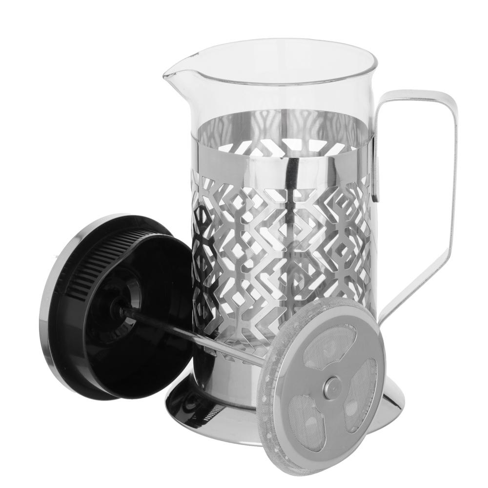 SATOSHI Гельсингфорс Френч-пресс 600мл, жаропрочное стекло, 4 дизайна - 4
