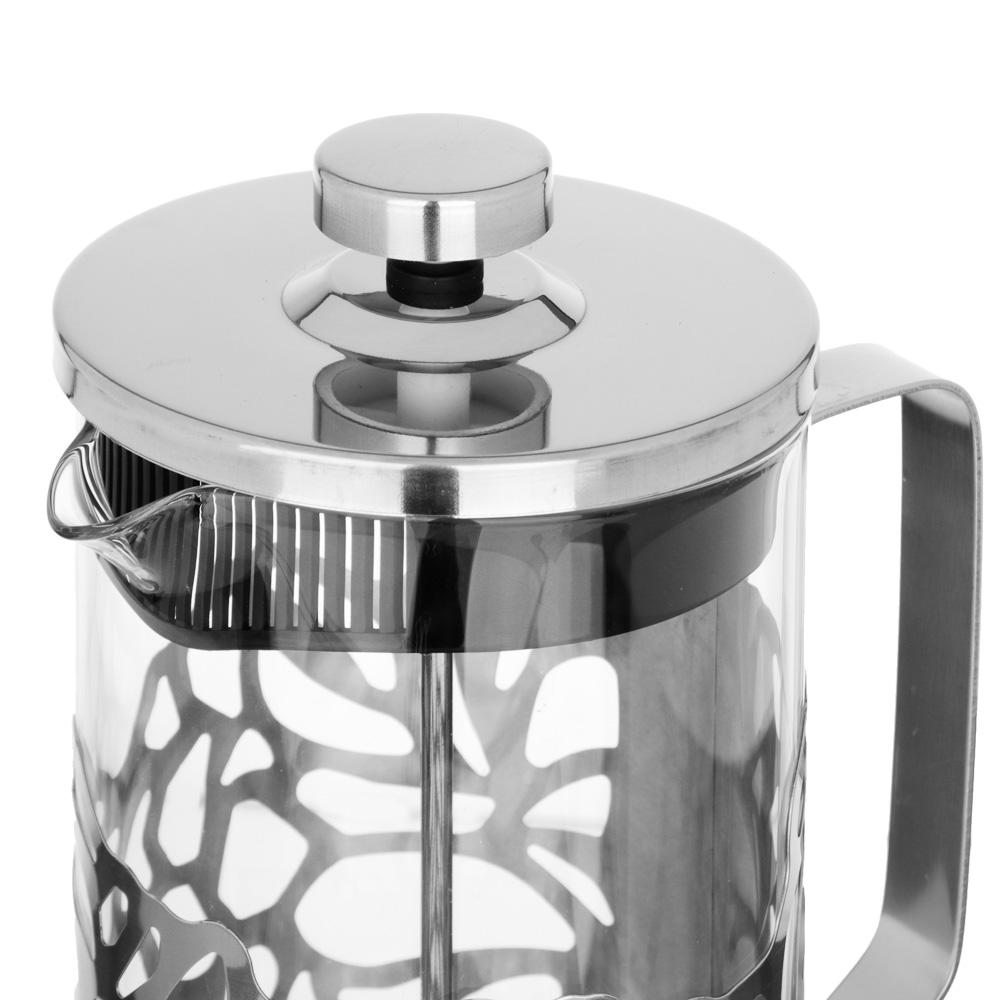 SATOSHI Гельсингфорс Френч-пресс 1000мл, жаропрочное стекло, 4 дизайна - 3