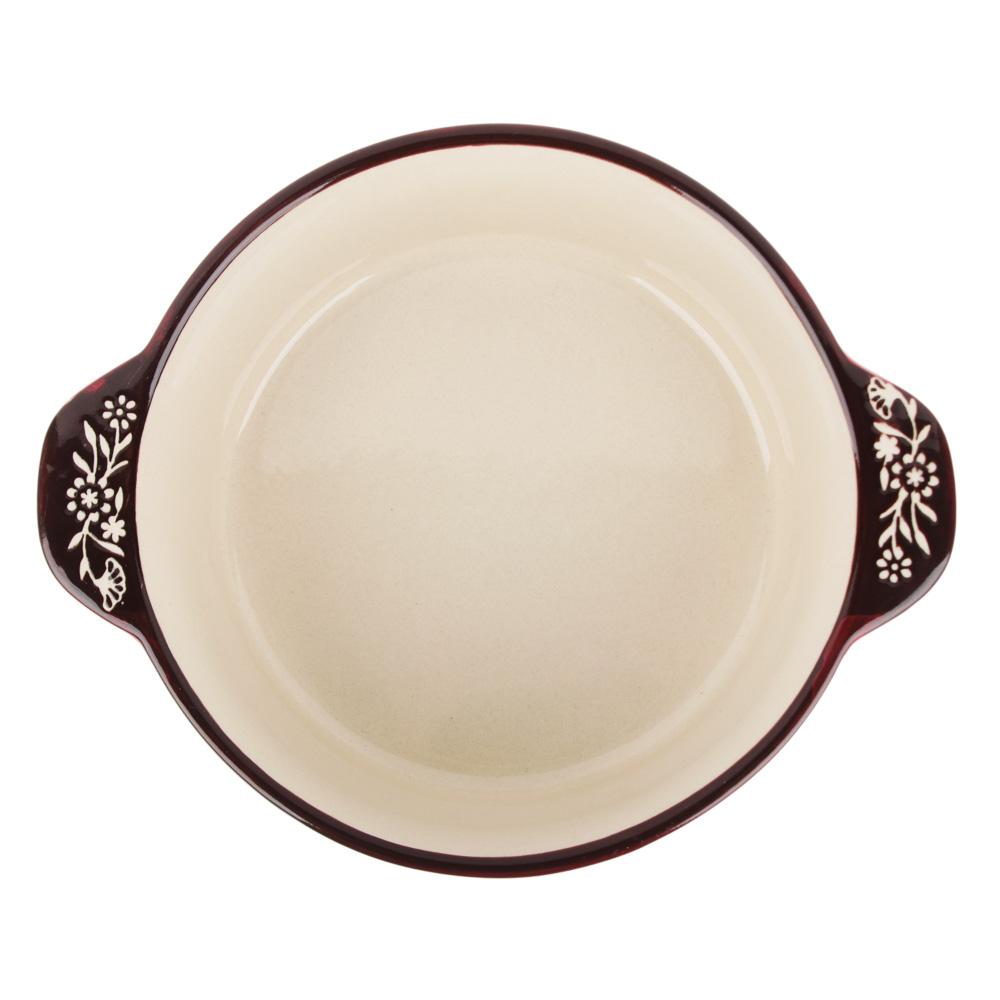 MILLIMI Горшочек с крышкой для запекания и сервировки, керамика, 16,5х13,5х10см, 480мл, красный - 3