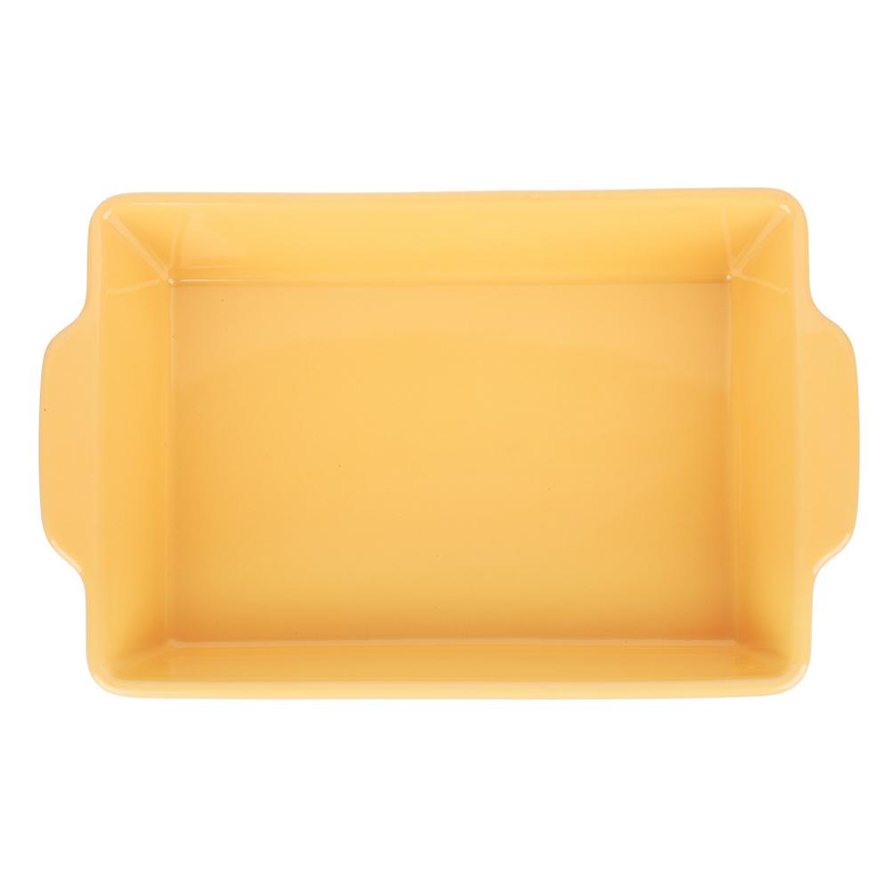 MILLIMI Форма для запекания и сервировки прямоугольная с ручками, керамика, 27,5х17х6см, 2 цвета - 3
