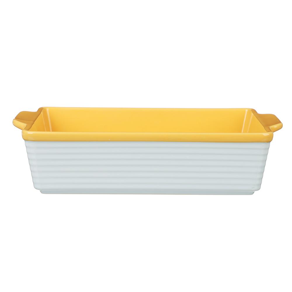 MILLIMI Форма для запекания и сервировки прямоугольная с ручками, керамика, 31х19,5х7,5см, 2 цвета - 2
