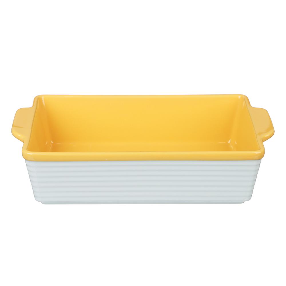 MILLIMI Форма для запекания и сервировки прямоугольная с ручками, керамика, 31х19,5х7,5см, 2 цвета - 3