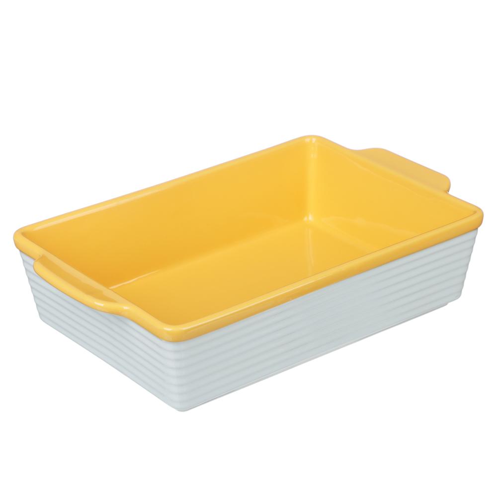 MILLIMI Форма для запекания и сервировки прямоугольная с ручками, керамика, 31х19,5х7,5см, 2 цвета - 4