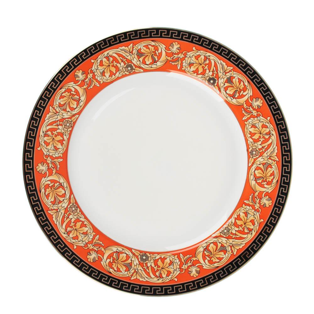 Рыжий Набор тарелок 2 предмета (27см, 20см), костяной фарфор, подарочная упаковка - 2