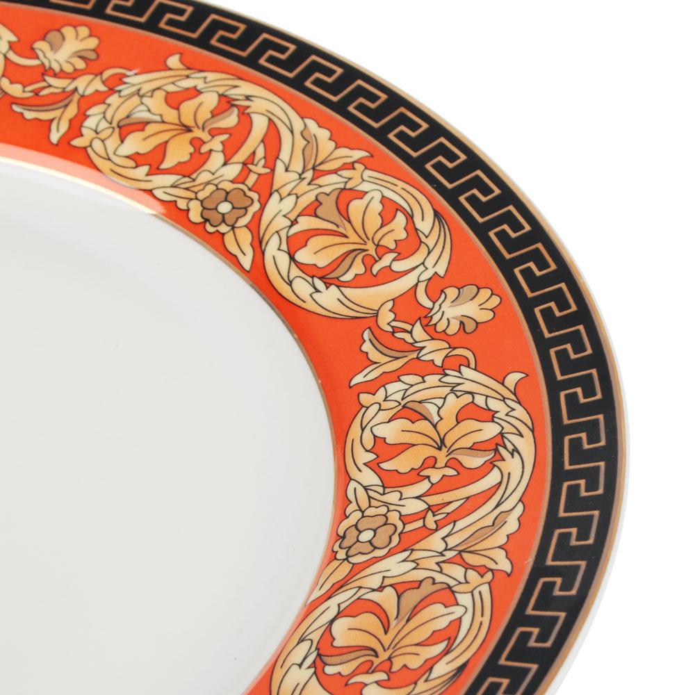 Рыжий Набор тарелок 2 предмета (27см, 20см), костяной фарфор, подарочная упаковка - 3