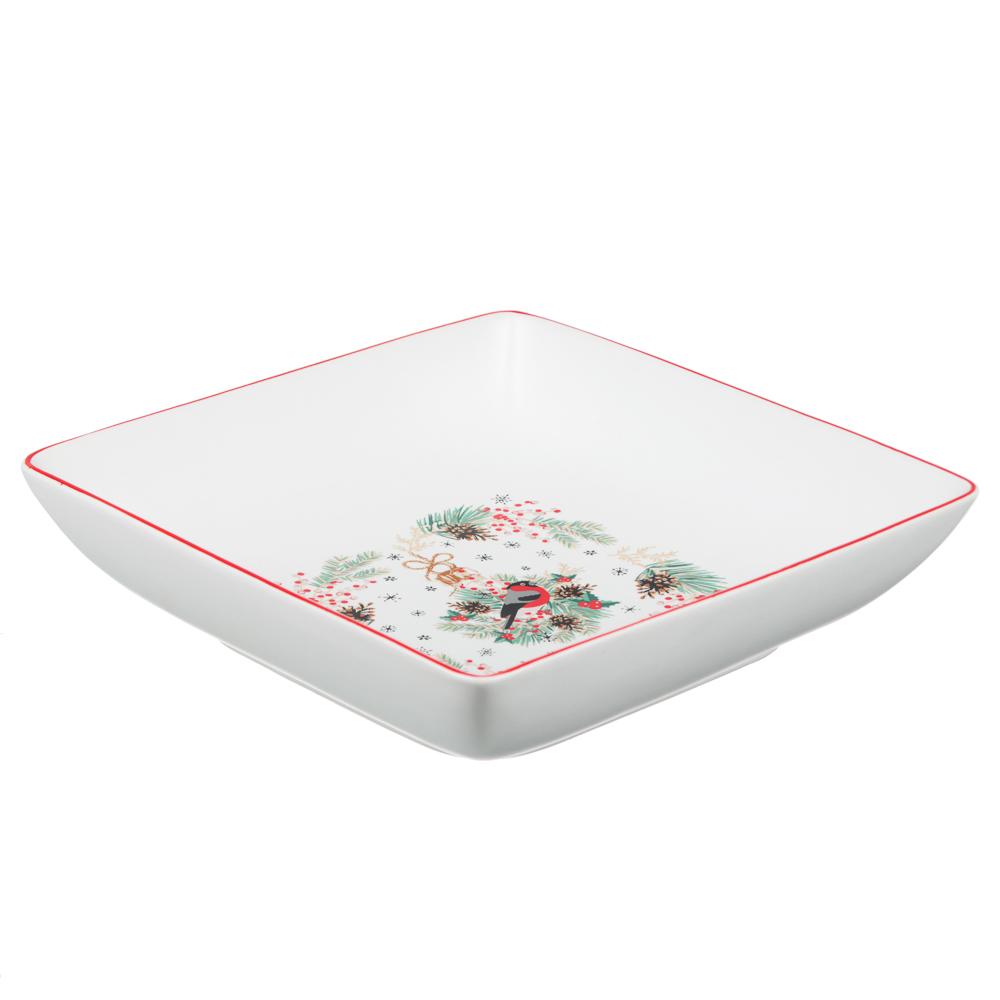 MILLIMI Снегирь Блюдо квадратное, 18х18х4,5см, керамика - 2