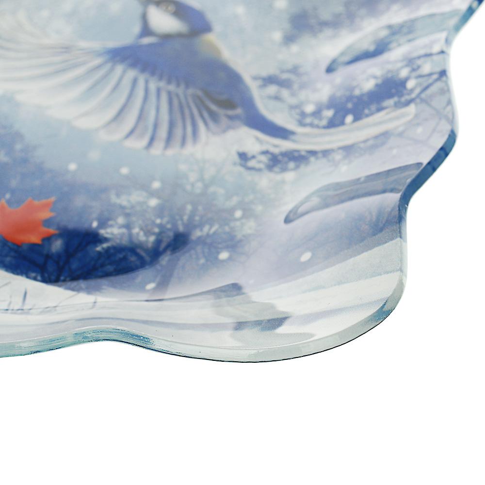 Зимушка-зима Блюдо квадратное 25х2см, стекло - 2