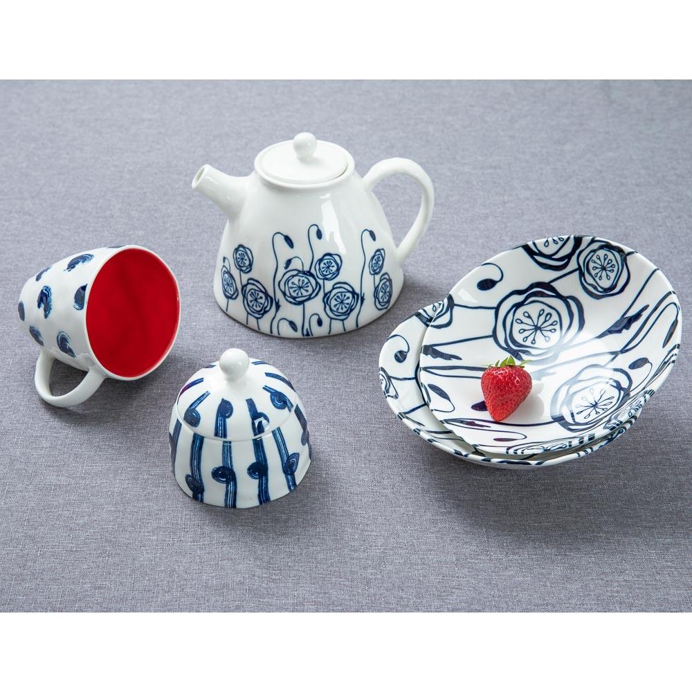 MILLIMI Индиго Чайник заварочный, 1100мл, 19,5х16х13,5см, керамика - 5