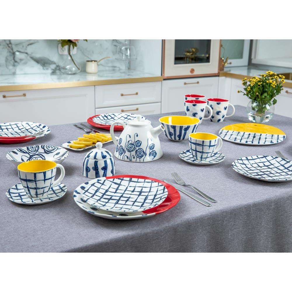 MILLIMI Индиго Чайник заварочный, 1100мл, 19,5х16х13,5см, керамика - 6