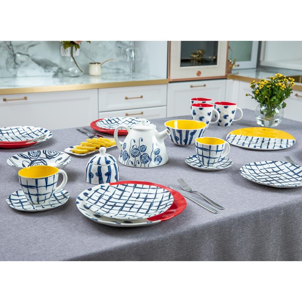 MILLIMI Индиго Тарелка десертная, 21х2см, керамика - 5