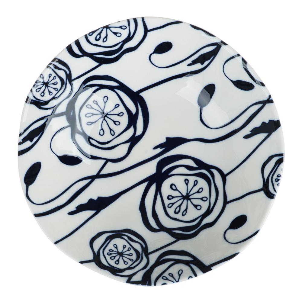 MILLIMI Индиго Салатник, 18х5см, керамика - 3
