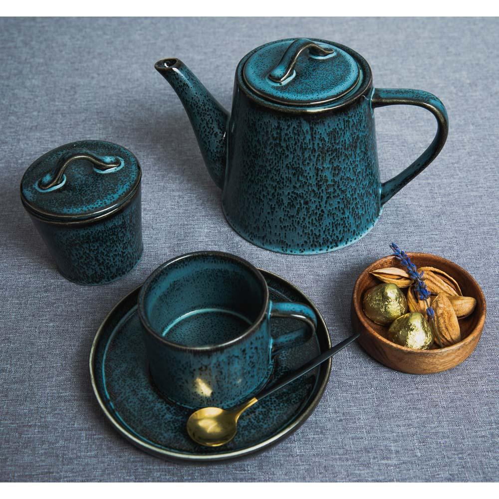MILLIMI Блэк Джинс Набор чайный 2пр, чашка 220мл, блюдце 16см, керамика - 5
