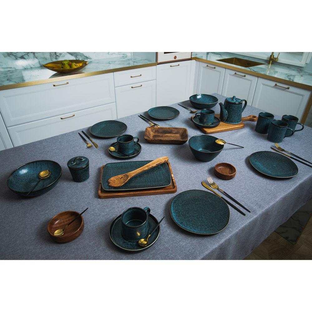 MILLIMI Блэк Джинс Набор чайный 2пр, чашка 220мл, блюдце 16см, керамика - 6