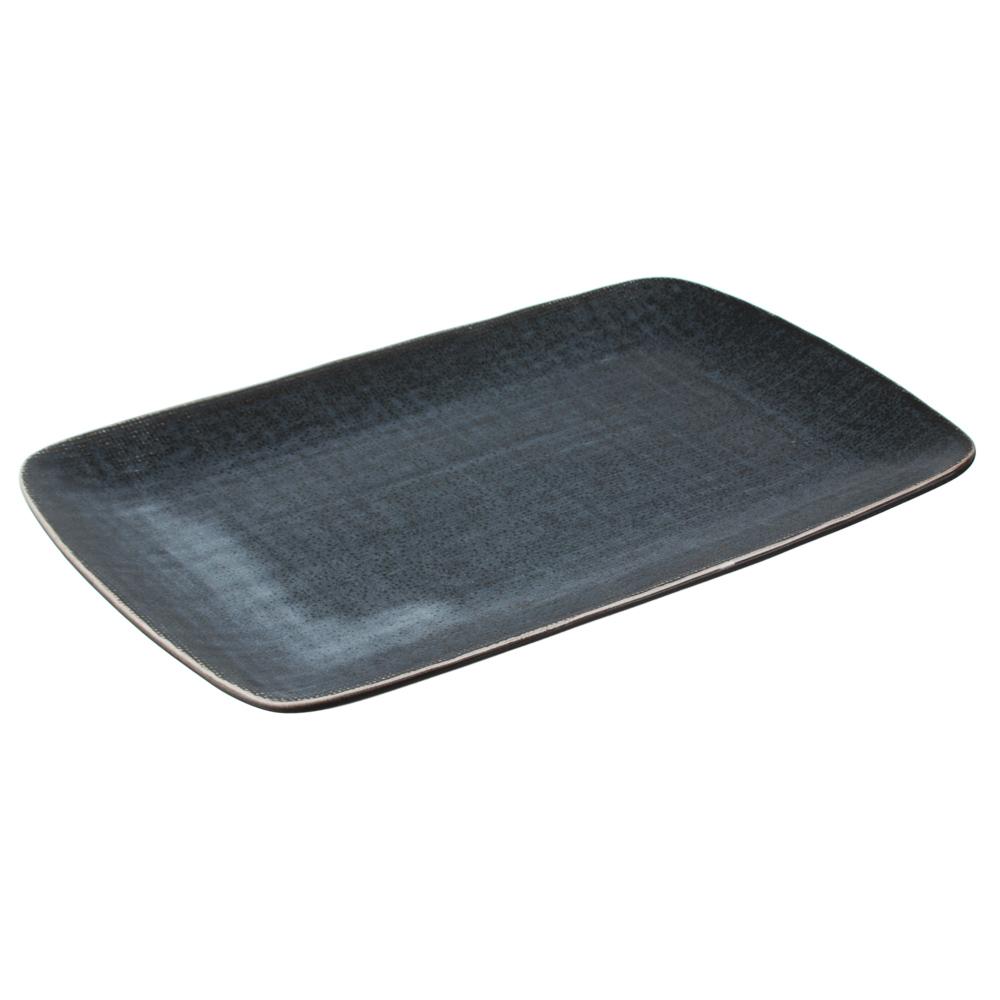MILLIMI Блэк Джинс Блюдо прямоугольное, 27,5х18х2см, керамика - 2