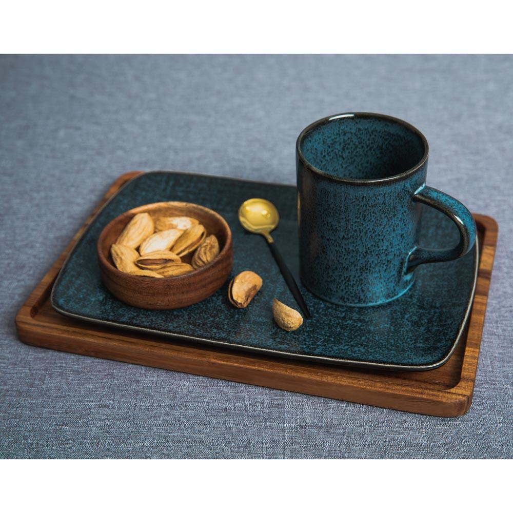 MILLIMI Блэк Джинс Блюдо прямоугольное, 27,5х18х2см, керамика - 5
