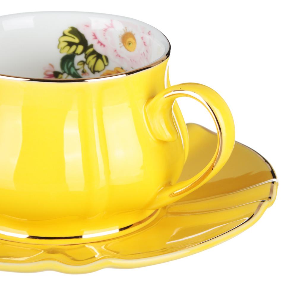 MILLIMI Тюльпан Набор чайный 12 пр., 220мл, 15см, костяной фарфор - 2