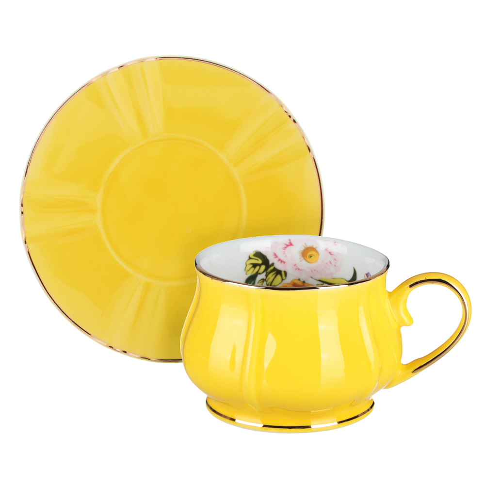 MILLIMI Тюльпан Набор чайный 12 пр., 220мл, 15см, костяной фарфор - 3