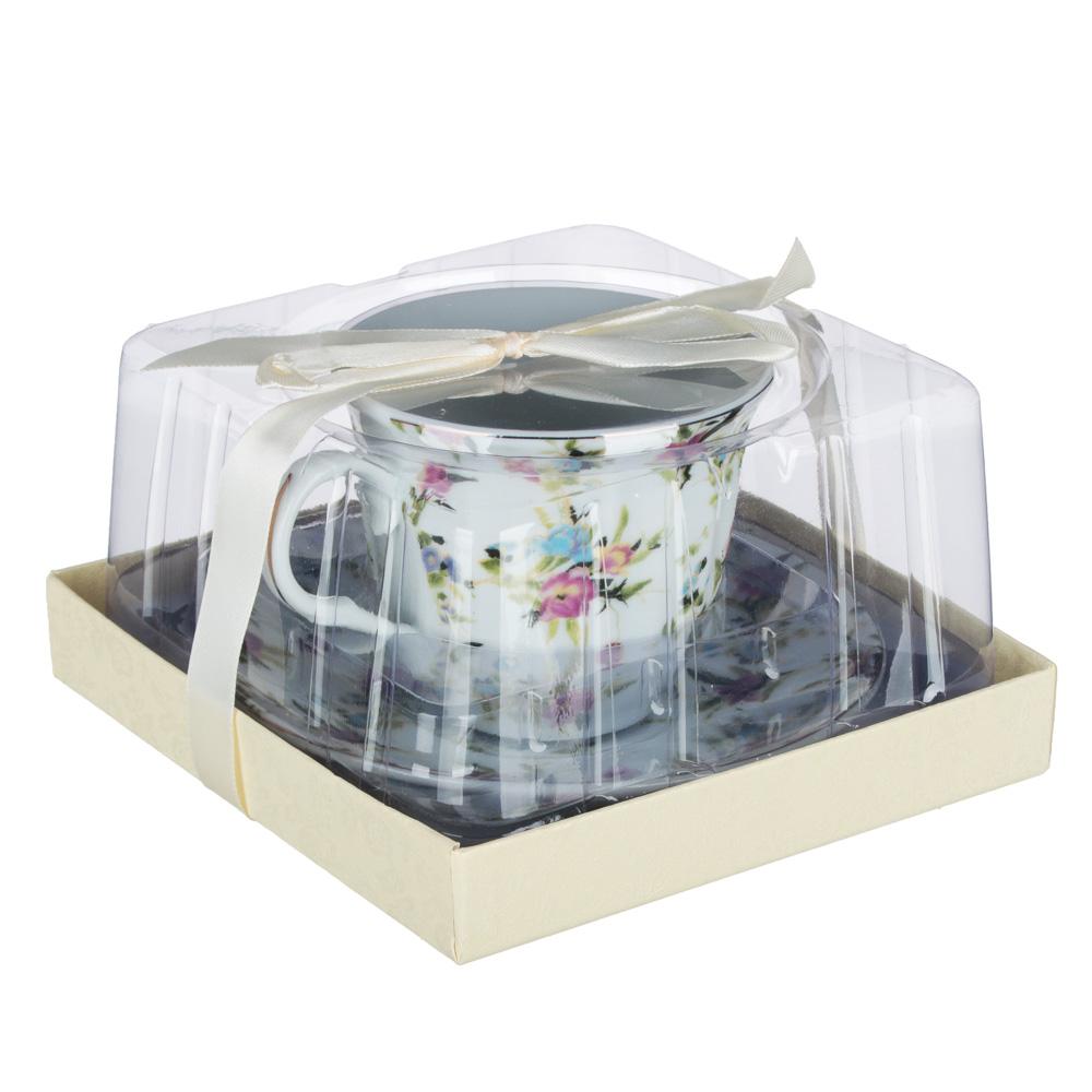 Весенний аромат Набор чайный 2 пр., 220мл, 14см, фарфор, 4 дизайна - 5